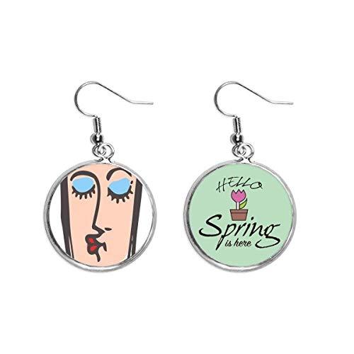 Beso Abstracto Cara Sketch Emoticons Decoración Cuelga Temporada Primavera Pendiente Joyería