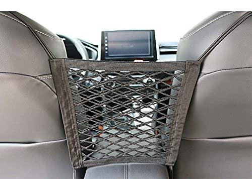 Bolsa de almacenamiento de red para asiento de automóvil, bolsa de almacenamiento para automóvil asiento delantero, bolsa de malla para respaldo de asiento, interior de piezas de automóvil