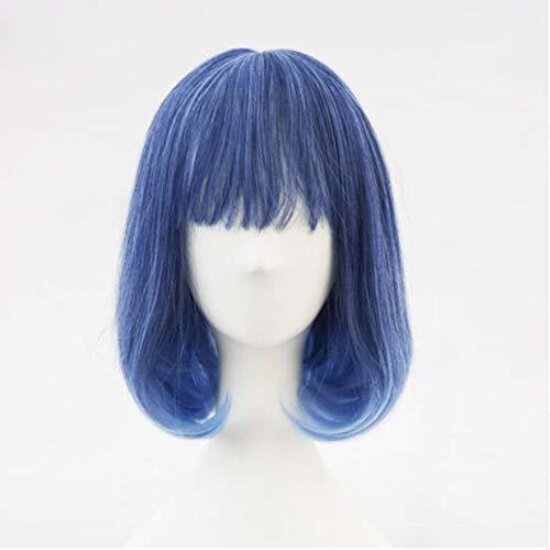 CNGYY New Blue Gradient White Kunsthaar Täglich Cosplay Perücke Lolita Perücke Kostüm Spielen Perücken Halloween Kostüme Haar 5039C 5039b