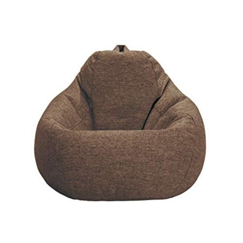 Soft Comfort Sitzsack Große Sitzsack Stühle Mit Abnehmbarem Bezug Für Kinder, Jugendliche Feines Baumwolltuch Sofa Sack Lounger Möbel,Braun