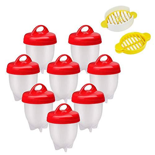 tubc Bollitore per Uova Sode Senza Guscio, Fornello per Uova, Fornello per Uova Sode, Fornello per Uova da 8 Pezzi