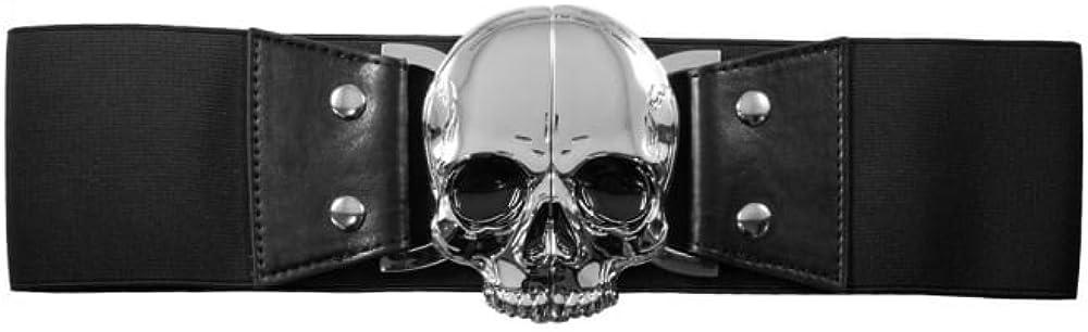 Cintur/ón el/ástico con dise/ño de calavera Kreepsville 666