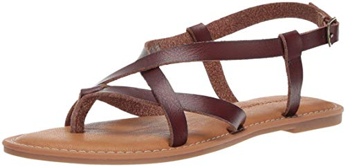 Amazon Essentials - Sandali a listini, casual, da donna, Marrone (Brown Brn), EU 38 - 39
