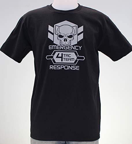 Tac Team 4. Camiseta negra, gris o verde militar chico