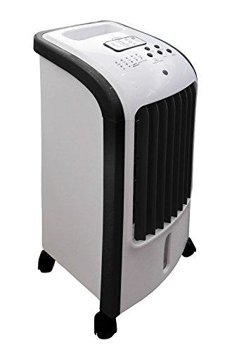 Ardes AR5R05 Eolo Mini Raffrescatore Evaporativo d'Ambiente 3 Livelli di Velocit? Con Ruote Timer e Telecomando, Capacità serbatoio 2,5 L, Bianco Nero