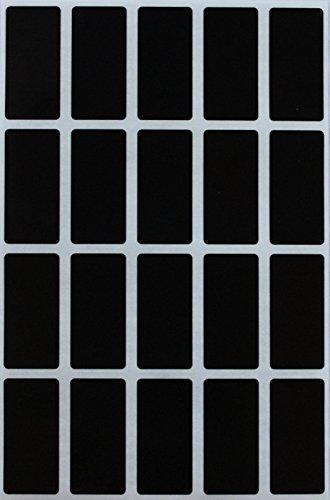 Etiketten Schwarz 40 mm x 19 mm rechteckige Aufkleber - in verschiedenen Farben Größe 4 cm x 1,9 cm viereckige Etiketten 300 Vorteilspack von Royal Green
