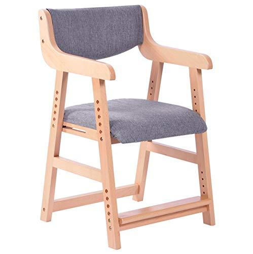 Kinder Study Stuhl, Richtige Sitzhaltung: Student Stuhl, Hauptständer Schreibtisch Stuhl, Massivholz 6 Höhenverstellbar Aufzug Beech-Material,A