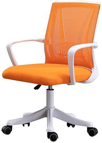 Silla de oficina ordenador silla de altura ajustable Silla de escritorio de oficina con Eronomic lumbar acoplamiento de la ayuda Excutive Presidente del Consejo for la oficina Sala (Color: Naranja, Ta