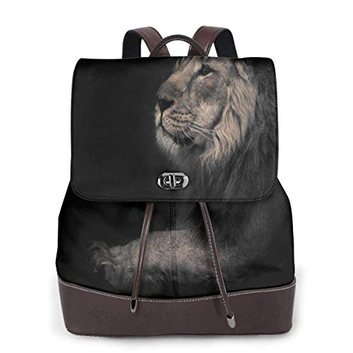 Yuanmeiju Womens Leather Backpack Amazing Painting Pagoda Special Shoulder Daypack Laptop Bag Girls