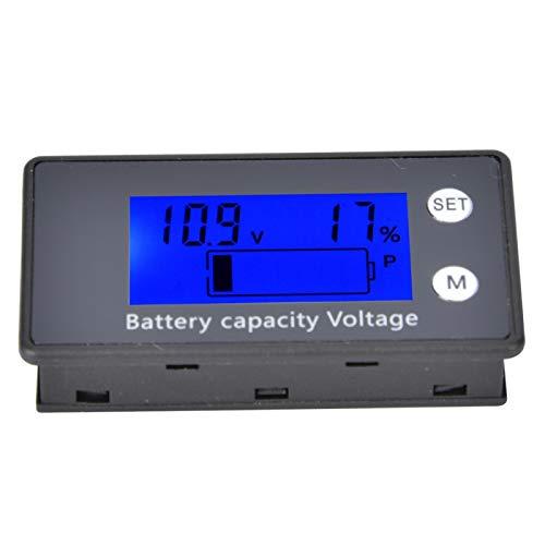 Medidor de capacidad de batería digital DC 10-100V con pantalla LCD mediana con((10-100V) blue)