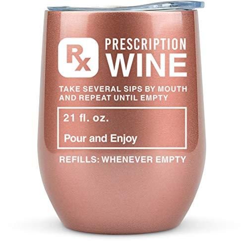 Nurse Gifts for Women Funny -Prescription Tumbler Wine/Coffee -Appreciation Gift Idea for Physician Assistant, Nurses Graduation, Pharmacy Technician, Cup, Practitioner, Glasses, Pharmacist, Nursing