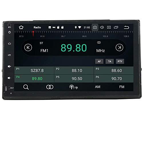 ROADYAKO 2Din Anroid 8.0 Auto Multimédia pour Toyota Corolla 2017 Autoradio Stéréo avec Navigation GPS 3G WiFi Lien Miroir RDS FM AM Bluetooth