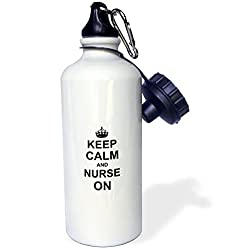 Nurses Week gift idea:  Keep Calm And Nurse On Water Bottle