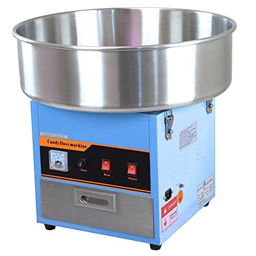 Partyhut Large Commercial Cotton Candy Machine Party Candy Floss Maker Blue
