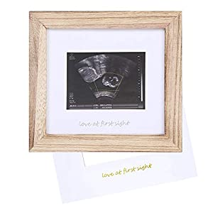 IHEIPYE Love at First Sight Sonogram Photo Frame – Baby Ultrasound Picture Frame – Pregnancy Announcement Frame for Expecting Parents, Gender Reveal Party, Grandparents, Baby Nursery Decor