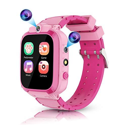 Smartwatch Bambini con 14 Gioco - Smart Watch con 2 Cameras Musicale Calorie Pedometro Recorder Sveglia, Giocattoli Regalo per Ragazzi e Ragazze Studenti Età 3-12 Anni