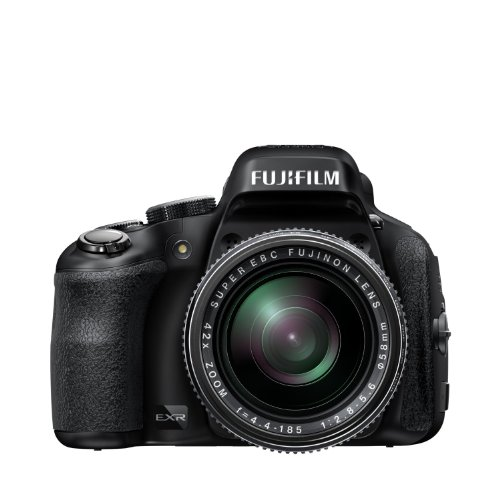 Fujifilm Finepix HS50EXR - Cámara compacta de 16 MP (Pantalla de 3', Zoom óptico 42x, estabilizador óptico, Video Full HD), Negro