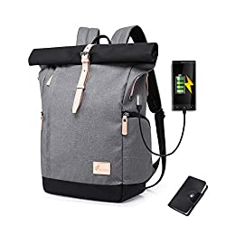 Cornasee waterproof laptop backpack 15,6 inch for men and women anti-theft security daypack school backpack college backpack, large capacity 30L (gray - new)