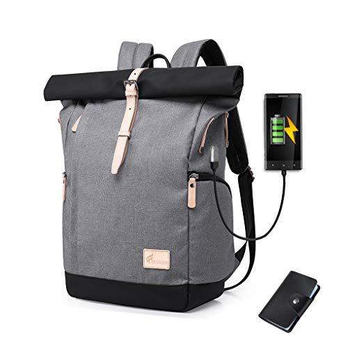 Cornasee Wasserdicht Laptop Rucksack 15,6 Zoll für Männer und Frauen Diebstahlsicherung Tagesrucksack Schulrucksack College-Rucksack,große Kapazität 30L (Grau - Neu)