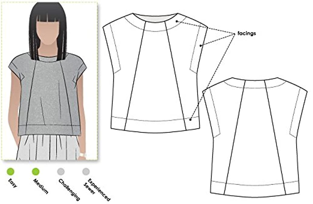 Style Arc Sewing Pattern - Ethel Designer Top (Sizes 18-30) - Click for Other Sizes Available