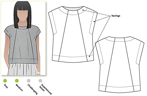 Style Arc Sewing Pattern - Ethel Designer Top (Sizes 04-16) - Click for Other Sizes Available