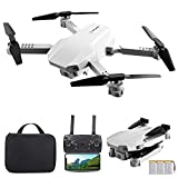GoolRC KK5 Mini Drone for Kids, Folding WiFi FPV Drone with 1080P HD Camera, RC Quadcopter with 360° Flip, Gesture Photo/Video, Headless Mode, Altitude Hold, Include Carry Bag and 3 Batteries