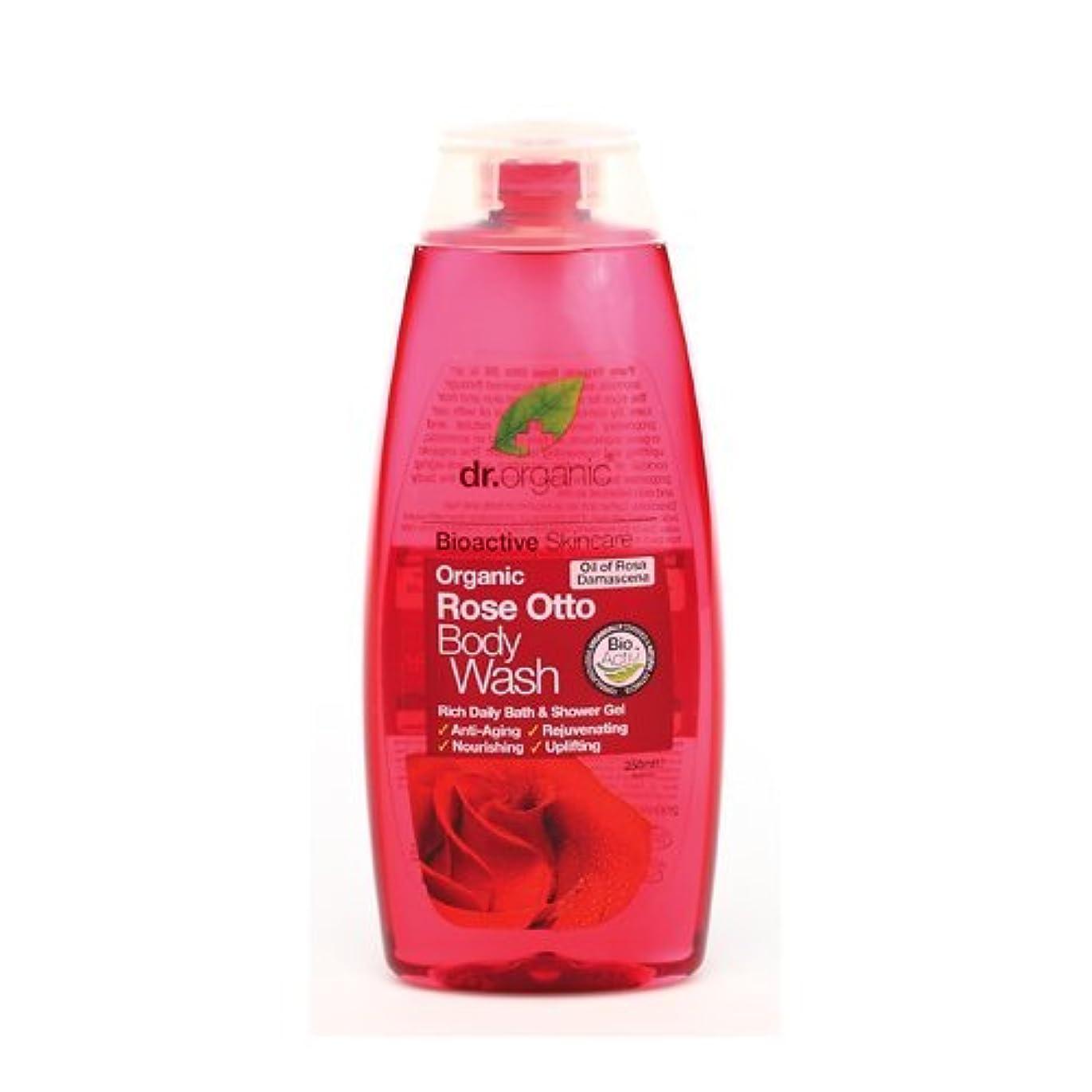 一致する粘性の鳴らすDr Organic Rose Otto Body Wash 250ml by Dr. Organic