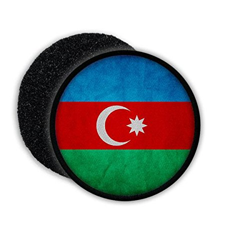 Copytec Patch Azerbaijan Aserbaidschan Binnenstaat Republik Baku Aserbaidschanisch Flagge Fahne Flag Abzeichen Wappen Aufnäher Emblem #20478