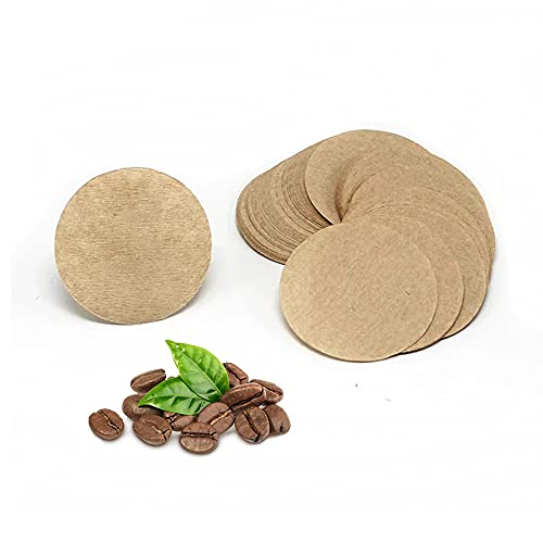 Replacement Unbleached Paper Coffee Filters Round Coffee Maker Filters Compatible with Aerobie Aeropress Coffee & Espresso Makers(100 Pack) (100)