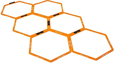 Max4out Hexagonal Speed Agility Training Rings Set of 6 Rings Sport Equipment Training Ladder Set