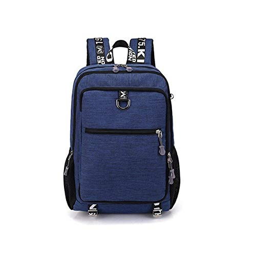 LYYCEU Men's Backpack Stylish Multifunctional Oxford Casual Laptop Backpack Waterproof Travel Bag With USB Charging Port