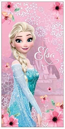 Disney Eisprinzessin Frozen Elsa Badetuch/Strandtuch aus Baumwolle Gr. 140 x 70 cm Größe One Size