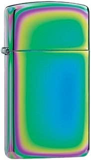 Personalized Slim Spectrum Zippo Lighter - Free Engraving