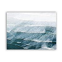 アートパネル キャンバスウォールアートウェーブポスターとプリント壁の写真リビングルームのポスター装飾15.7x23.6in(40x60cm)x1pcsフレームなし