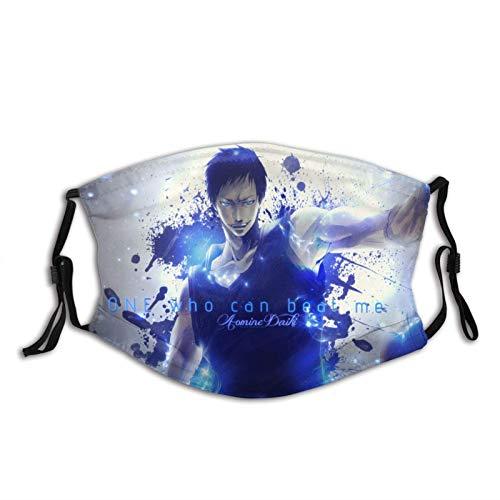 KINGAM Kuroko'S - Máscara de baloncesto para adultos, color negro, protección facial portátil, bandana, borde elástico, pasamontañas