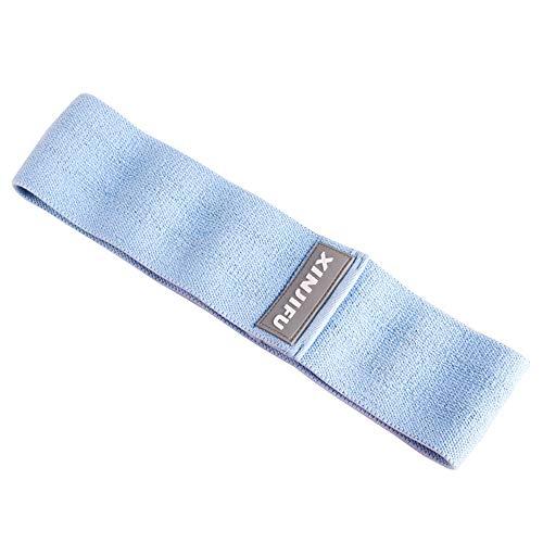 LJFZDB Bandas Elasticas de Fitness Deslizamiento de Tela Ejercicio de Yoga Piernas y Caderas Estiramiento de Bandas de Ejercicio Unisexo (Color : Blue)