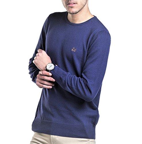 Ridebike Jersey de Cuello Redondo Vespa | Azul Denim | 100% algodón (S)