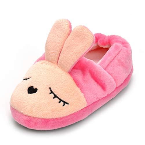Csfry Baby Girl's Rabbit Slipper US 11-12 Pink