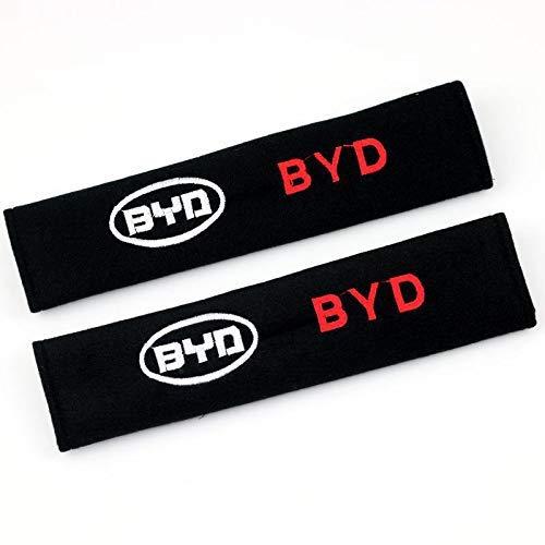 WYJBD Spalline Copertura della Cinghia della sede di Automobile, Adatto for Il Cotone Nero Spalle BU-ICK Protezione Clip Comoda Imbottitura della Protezione di Sicurezza (Color : BYD, Size : 2Pcs)