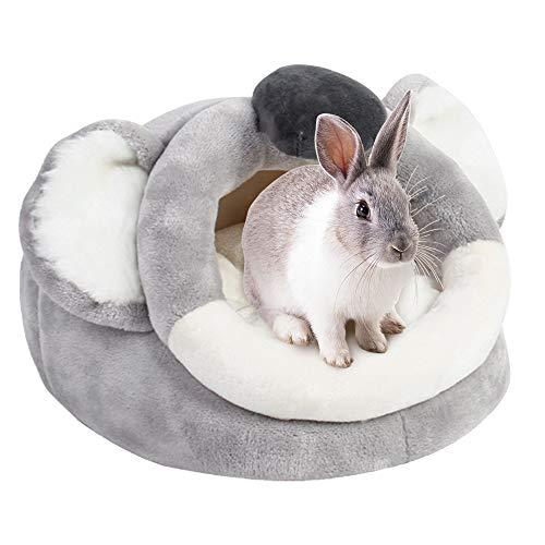 URIJK Kleine Tier Haus Nest Gemütlich Warm Plüsch Baumwolle Schlafen Bett Höhle Zubehör für Lgel Katze Kaninchen Hamster Meerschweinchen Chinchilla (L, Koala)