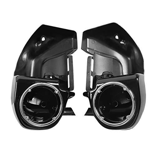 Gloss Black Lower Vented Leg Fairings with 6 1/2'' Speaker Box Pods fits for H-D touring models FLT, FLHT, FLHTCU,FLHRC, Road King, Street Glide, Electra Glide, Ultra-Classic, Road Glide 1983-2013