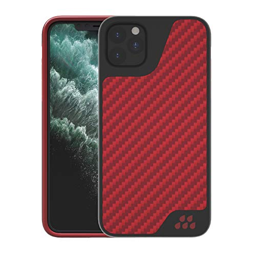 Evutec Compatible with iPhone 11 Pro Case, Aramid Fiber iPhone 11 Pro Cases Cover for iPhone 11 Pro 5.8 Inch, AER-Sport Series Case with AFIX+ Free Vent Mount-Red