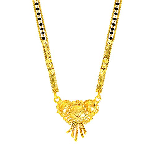 Bodha 22K Gold Plated Traditional Indian Bollywood Inspired Long Mangalsutra Necklace for Women (SJ_2298)