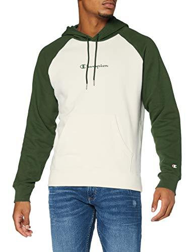 Champion Men's Seasonal Raglan Hooded Sweatshirt Sudadera con Capucha, Verde (WW024), Small para Hombre