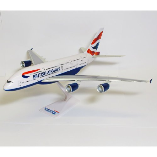 Premier Planes SM380-64WB British Airways Airbus A380 1:250 Snap-fit Model