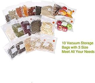 Kitchen Vacuum Bag for Food with Pump Vacuum Sealer Bags Plastic Zip Bag Keep Food Fresh/Reusable/BPA Free
