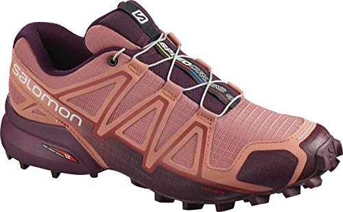 Salomon Damen SPEEDCROSS 4 W Trail Running Schuhe, Rot (Brick Dust/Winetasting/Apple Butter), 41 1/3 EU
