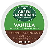 Green Mountain Coffee Roasters Vanilla Espresso Roast, Single-Serve Keurig K-Cup Pods, 48 Count