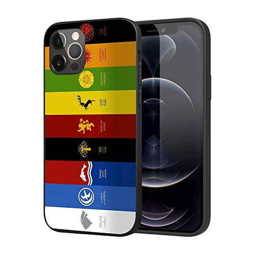 Compatible with iPhone 12 Pro Max, Soft TPU Silicone Slim Case (Game-Thrones-GOT-Symbol)
