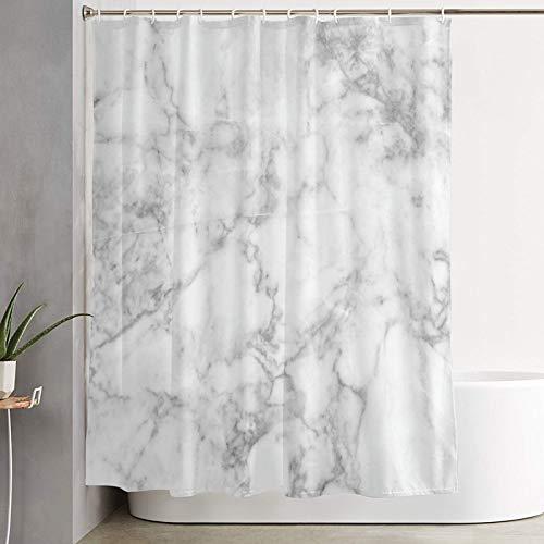 VINISATH Duschvorhang,Natur Granit Muster mit wolkigen Flecken Spuren Effekte Marmor Künstlerisches Bild Muster,wasserdichter Badvorhang mit 12 Haken Duschvorhangringen 180x180cm